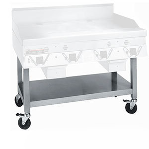 Garland / US Range Garland SCG-48SSC Equipment Stand with Undershelf and Casters for CG-48R and ECG-48R Griddles at Sears.com