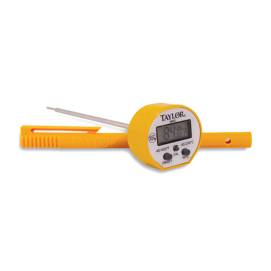 Taylor 9842FDA 5 inch Waterproof Digital Probe Thermometer with 1.5mm Wide Probe