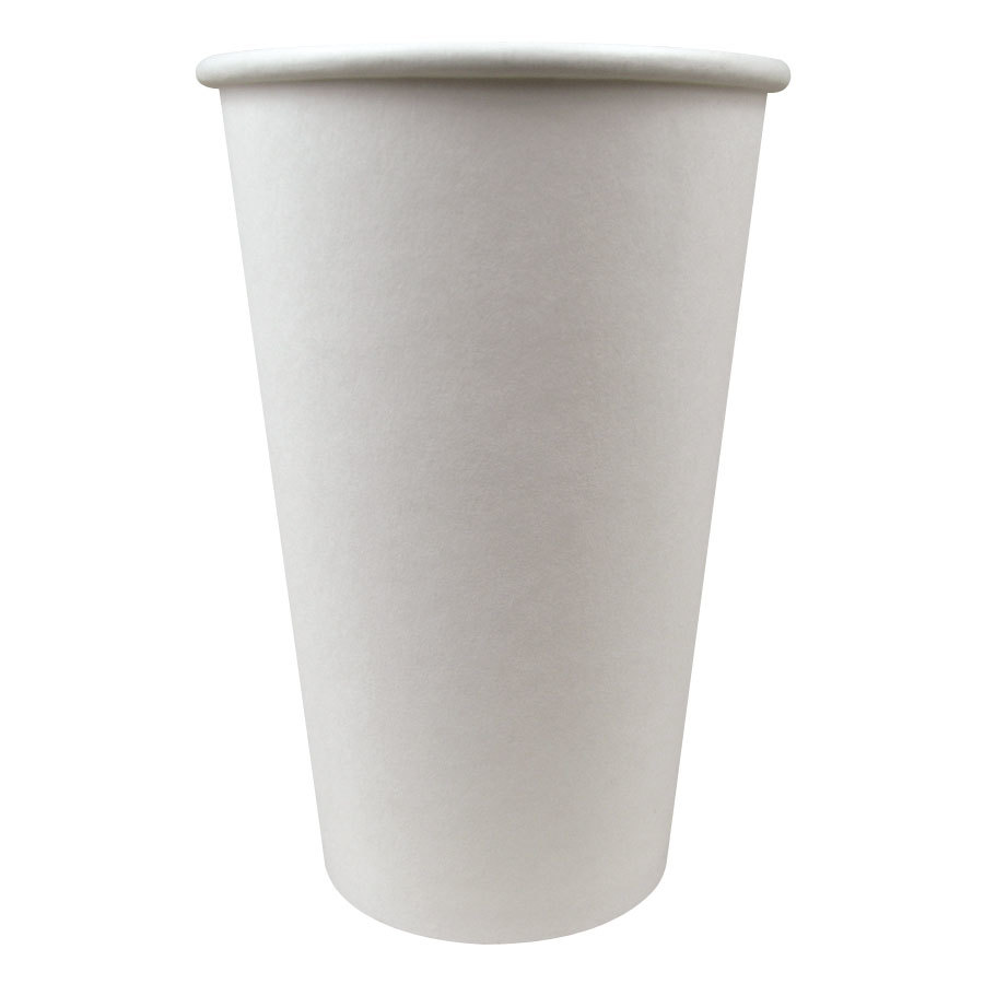 Choice 16 oz. Paper Hot Cup White 50 / Pack