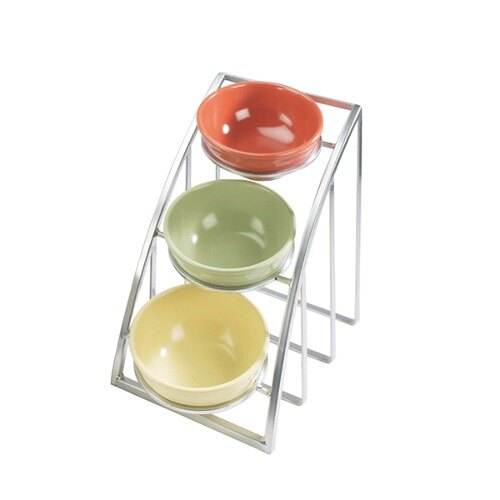 Cal Mil 1712-8-39 Mission 8 inch Round Bowl Display Stand - Silver