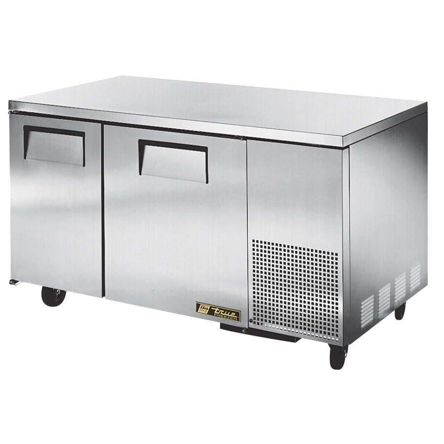 "True TUC-60-32F 60"" Deep Depth Undercounter Freezer with Two Doors"