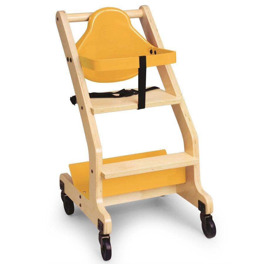 Koala Kare KB318 07 Hardwood Bistro High Chair with Yellow