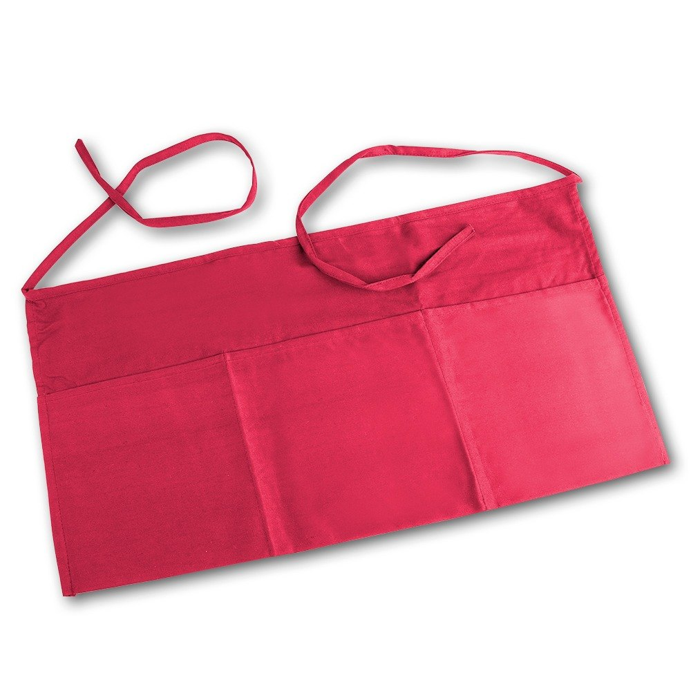 Red Choice Front of the House Waist Apron - 12 inchL x 24 inchW