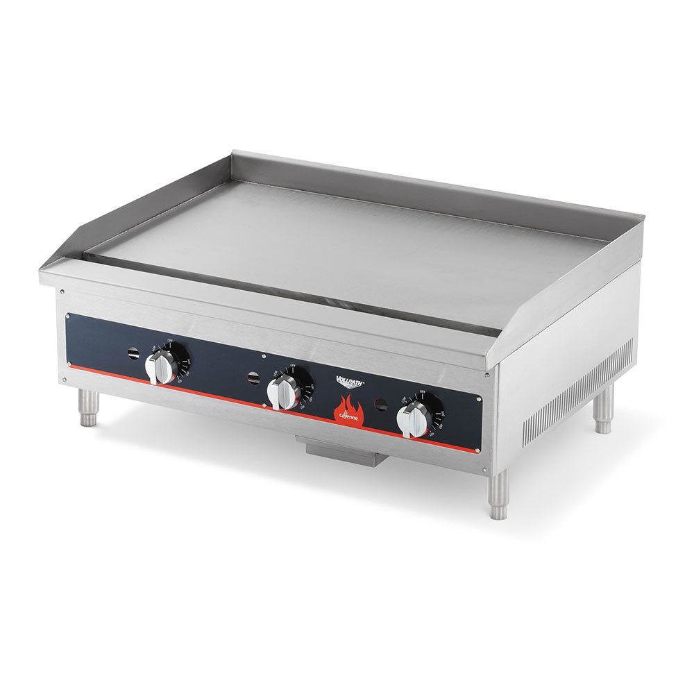Vollrath 40721 Cayenne 36 inch Flat Top Gas Countertop Griddle (Anvil FTG9036) - Manual Control