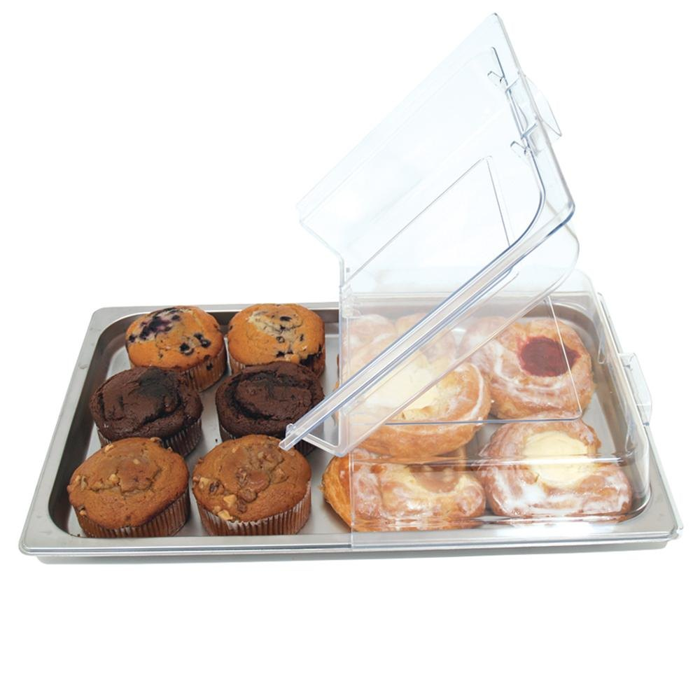 Full Size Polycarbonate Hinged Pastry Cover- Fits Any Full Size Steam Table Pan