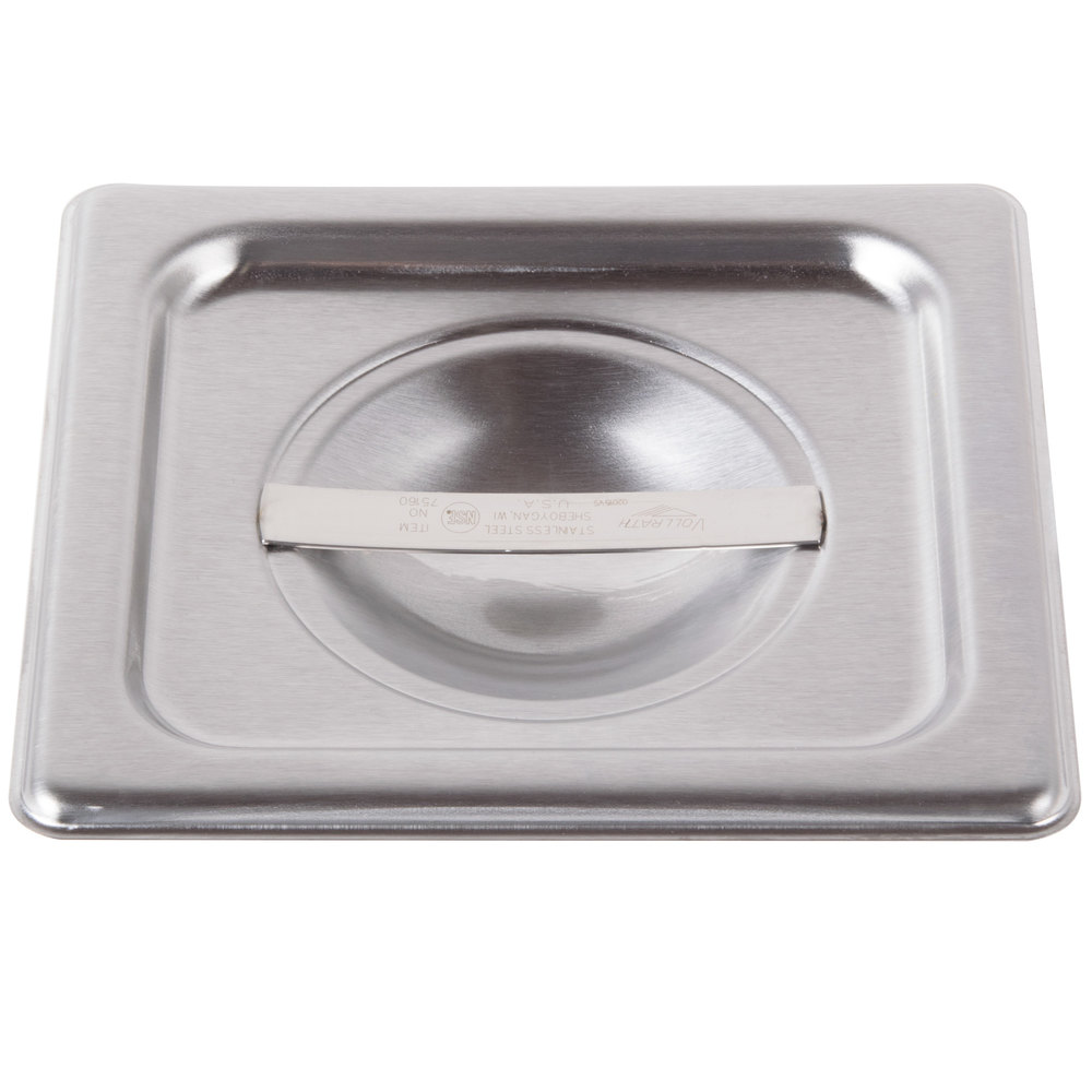 Vollrath 75160 Super Pan V 1/6 Size Solid Stainless Steel Steam Table / Hotel Pan Cover