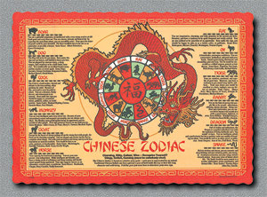 Chinese Zodiac Placemat Printable