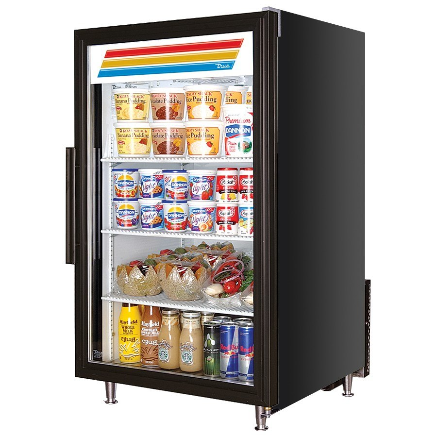 Black True GDM-7 Countertop Refrigerated Merchandiser, Glass Door - 7 Cu. Ft.