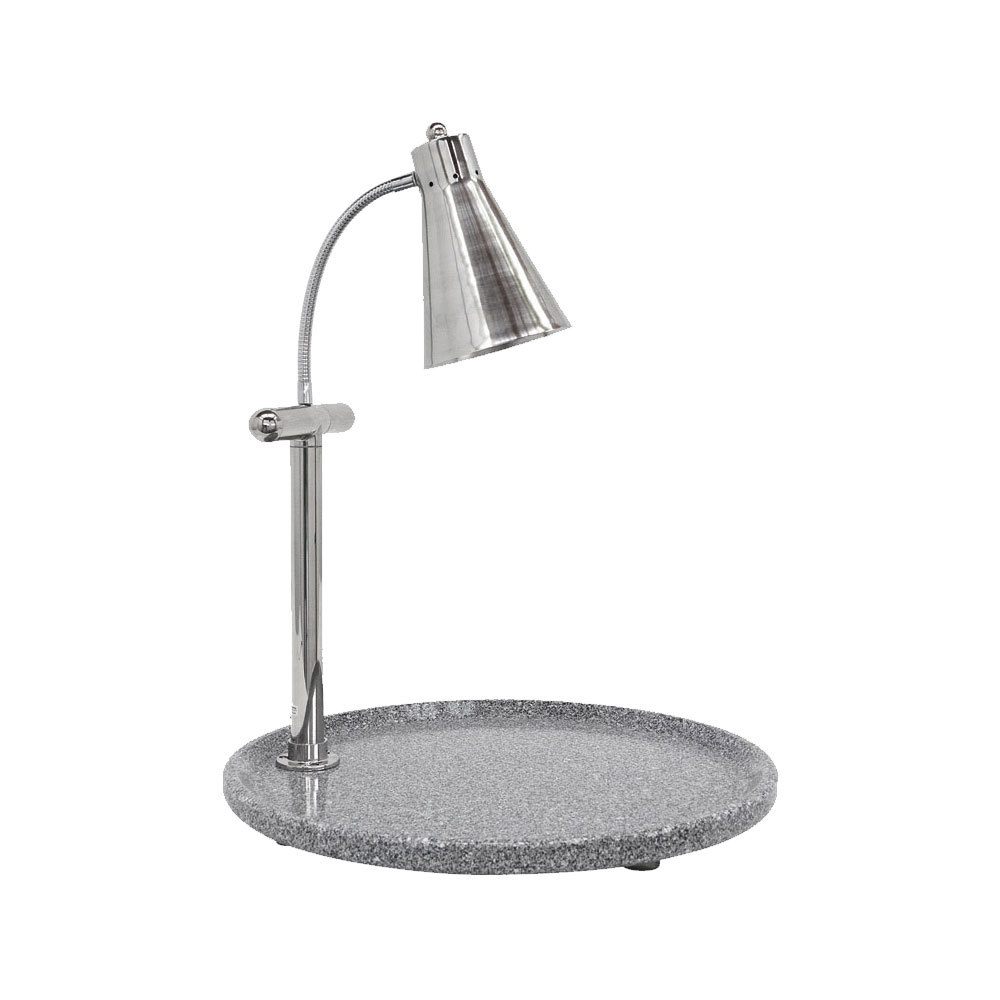 "Buffet Enhancements 010HCL-GG24RDS 24"" Classic Carving Station with Round Gray Granite Base and Flex Lamp"