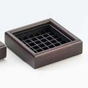 Cal Mil 330-4-52 Dark Wood 4 inch Square Drip Tray