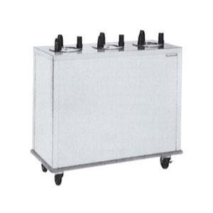 "Delfield CAB3-1200ET Even Temp Mobile Enclosed Three Stack Heated Dish Dispenser / Warmer for 10 1/8"" to 12"" Dishes - 208V"
