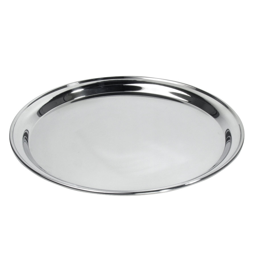 "12"" Round Stainless Steel Catering Tray / Platter"