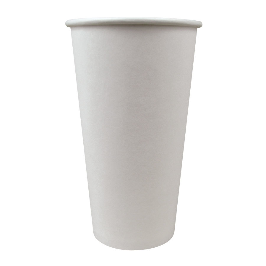 Choice 20 oz. Paper Hot Cup White 600 / Case