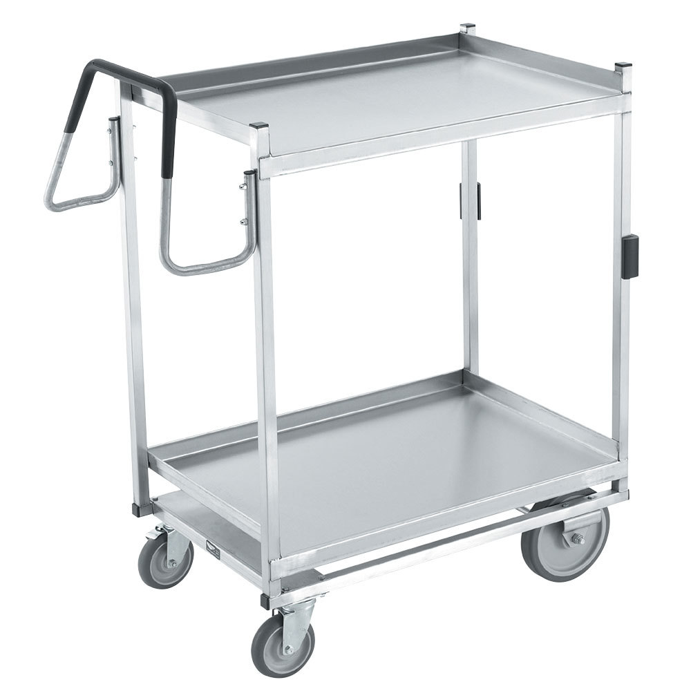 "Vollrath 97207 Heavy-Duty Stainless Steel 2 Shelf Utility Cart - 44"" x 23"" x 44 1/2"""
