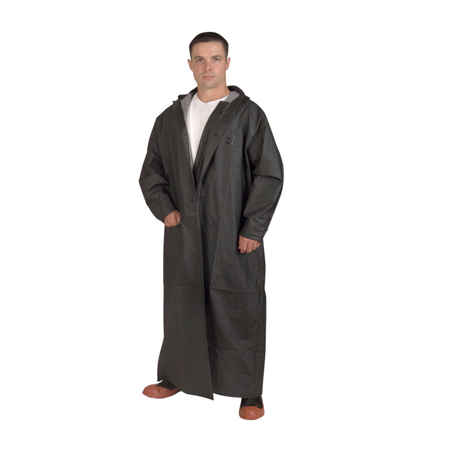 "Black 2 Piece Rain Coat 60"" - XL"
