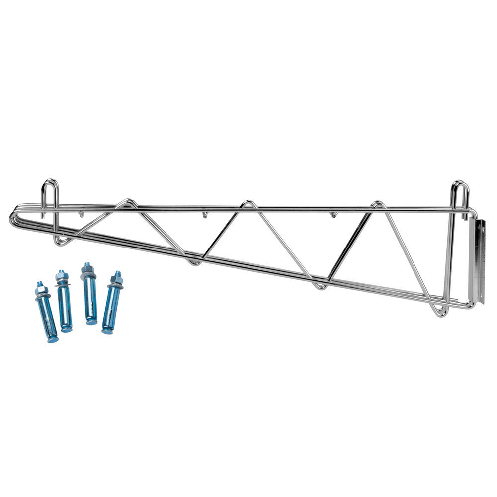 "Regency 24"" Deep Double Wall Mounting Bracket for Adjoining Chrome Wire Shelving"