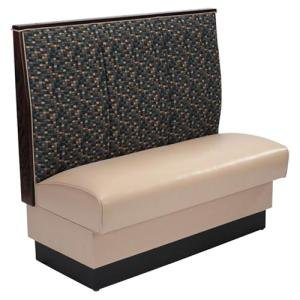 "American Tables & Seating AS-363-D Single Deuce 3 Channel Back Upholstered Booth - 36"" High"
