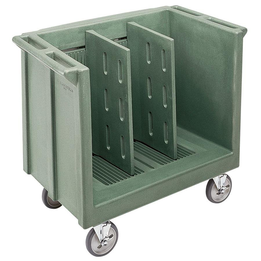 Cambro TDC30192 Granite Green Adjustable Tray and Dish Cart with Vinyl Cover