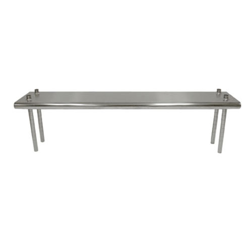 "Advance Tabco TS-12-48 12"" x 48"" Table Mounted Single Deck Stainless Steel Shelving Unit - Adjustable"