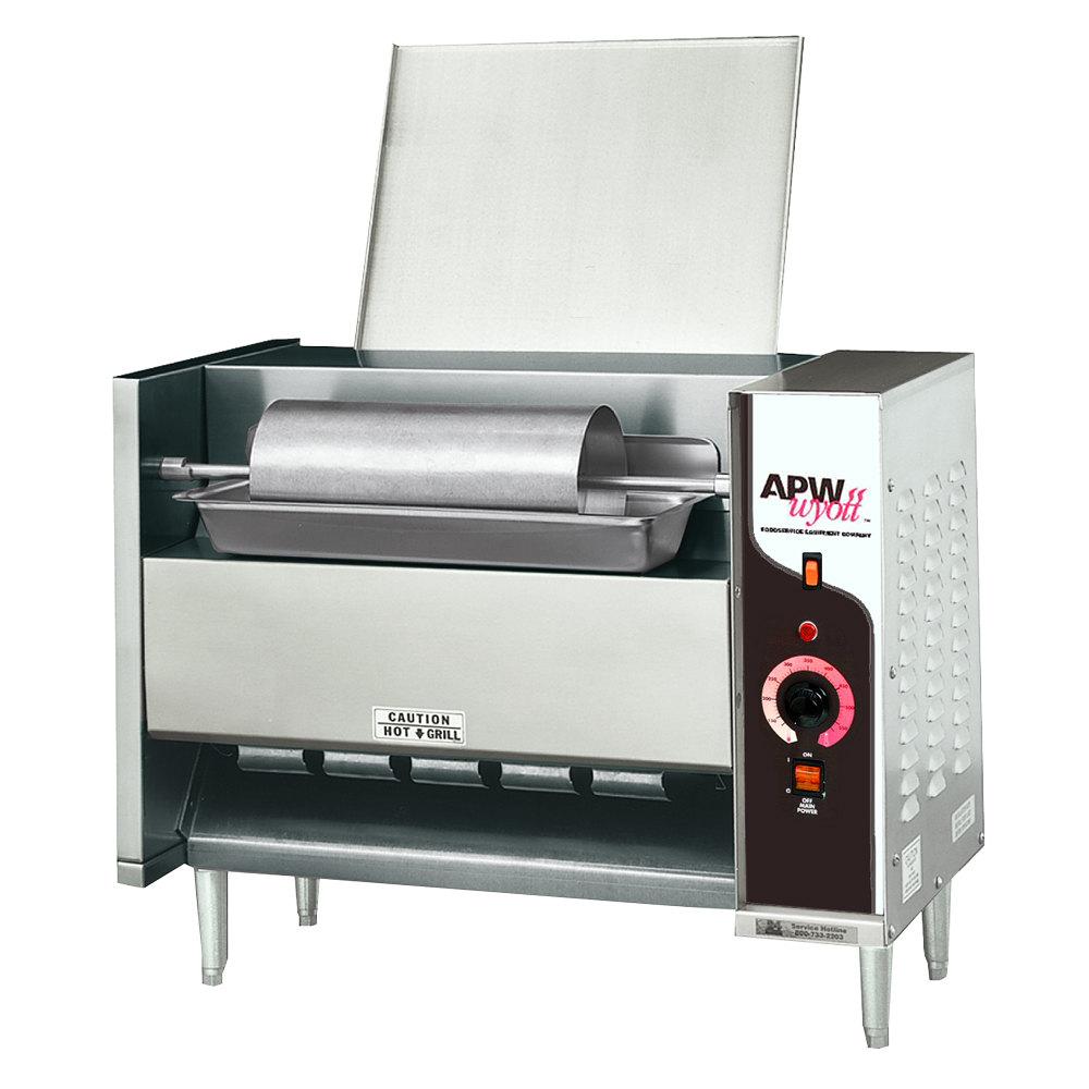 240 Volts Apw Wyott M 95 2 Vertical Conveyor Bun Grill Toaster