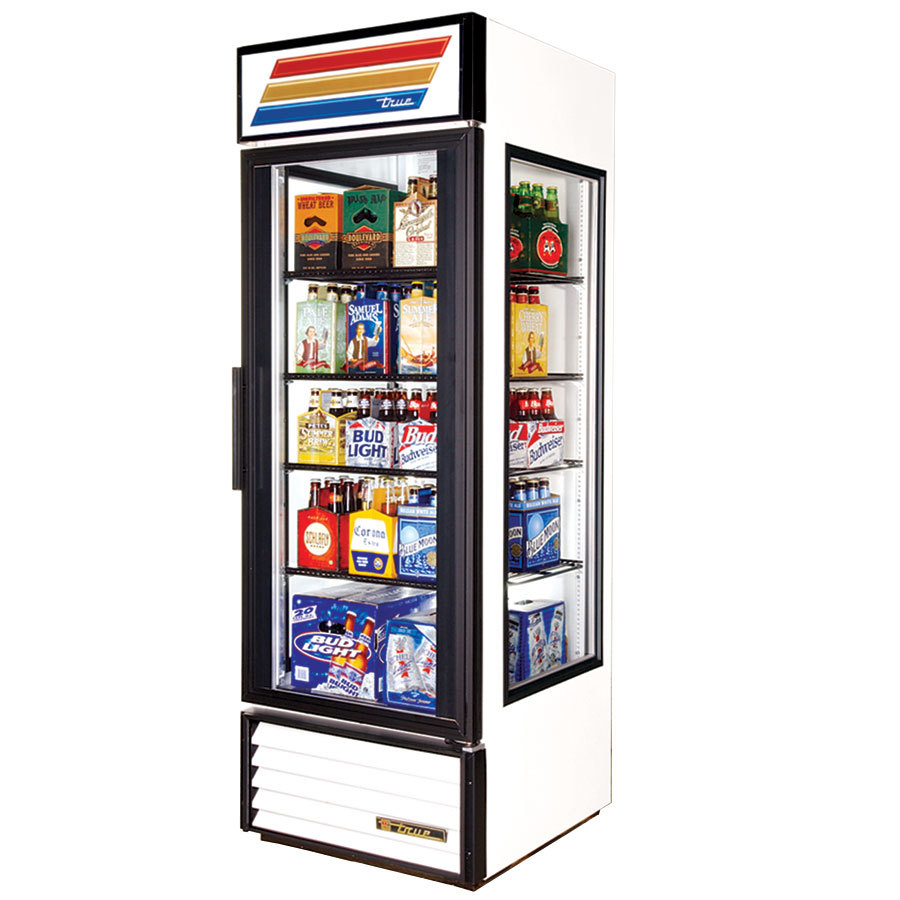 True GEM-23 White Glass End Merchandiser - 23 Cu. Ft.