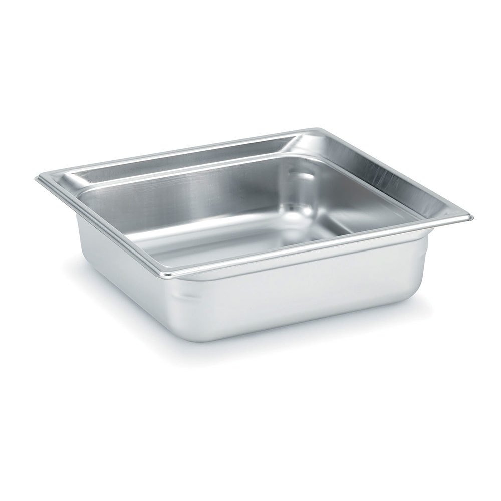 Vollrath 90142 Super Pan 3 Stainless Steel 2/3 Size Anti-Jam Steam Table Pan - 4 inch Deep