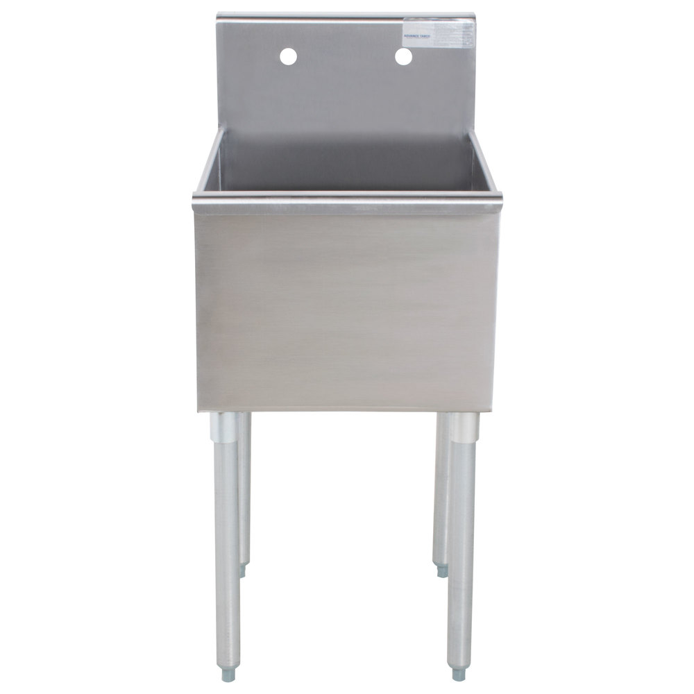 Advance Tabco 4 1 18 One Compartment Stainless Steel