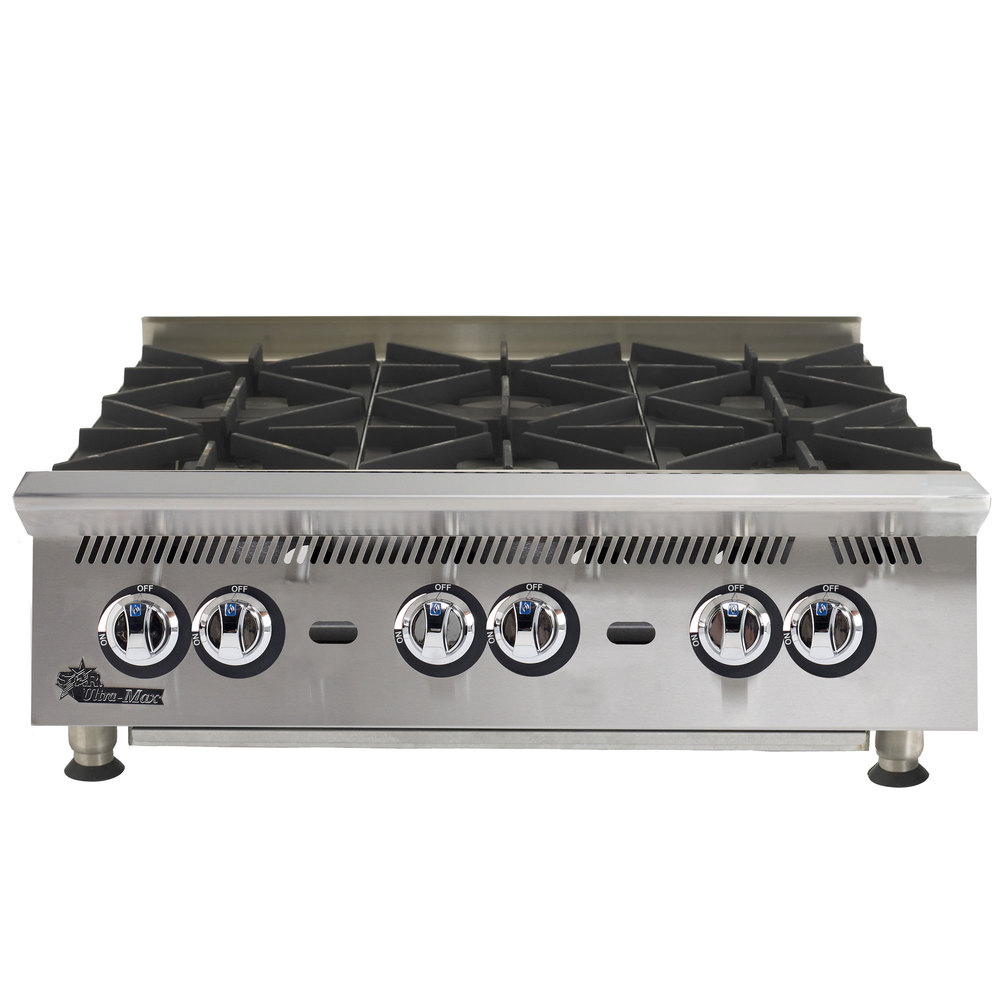 Countertop Gas Range : Natural Gas Star 806HA Ultra Max 6 Burner Countertop Range / Hot Plate ...