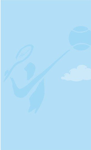 8 1/2 inch x 11 inch Menu Paper - Country Club Themed Tennis Silhouette Design - 100/Pack