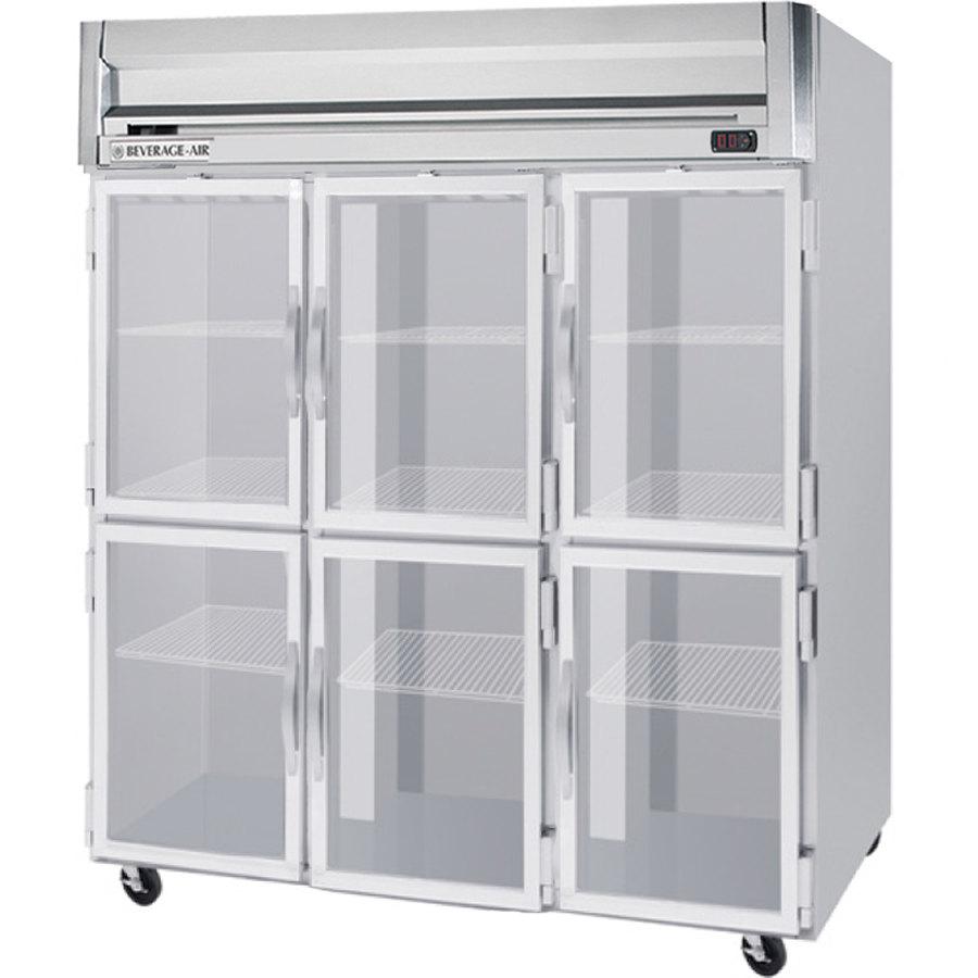 Beverage air hrs3 1hg led horizon series 78 glass half for 1 glass door refrigerator