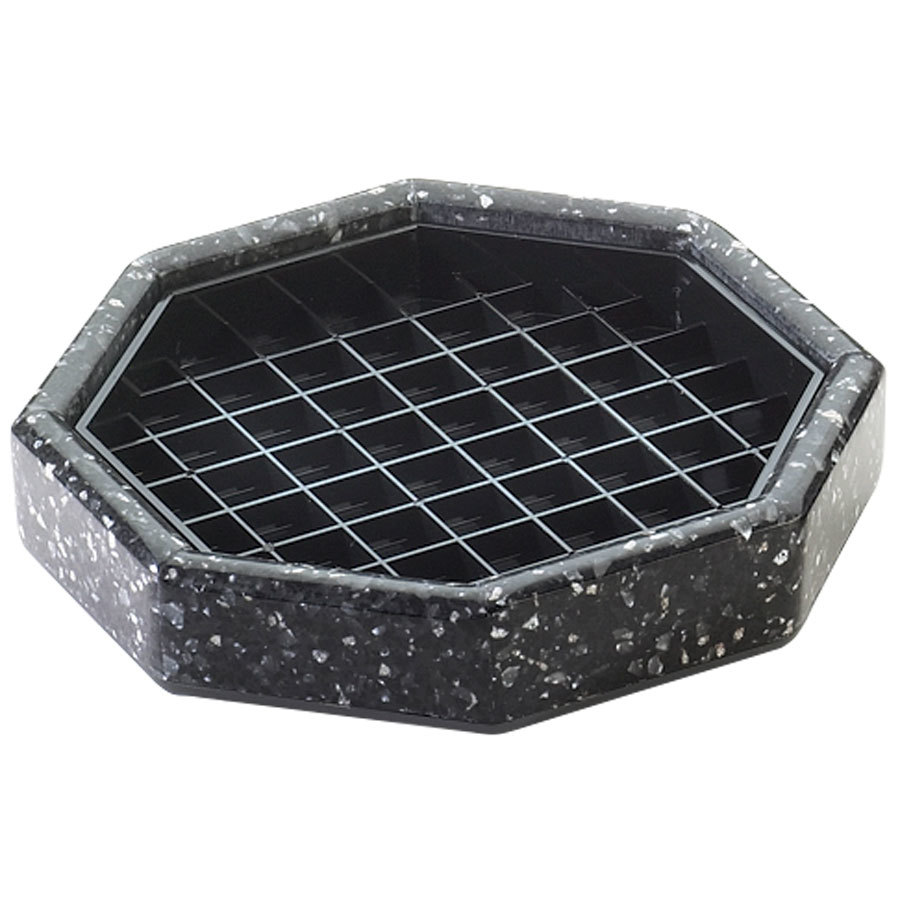 "Cal-Mil 310-6-31 6"" Black Ice Octagonal Drip Tray"