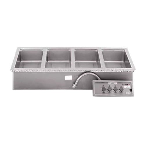 Wells MOD400DM 4 Pan Drop-In Hot Food Well with Drain Manifolds - Infinite Control