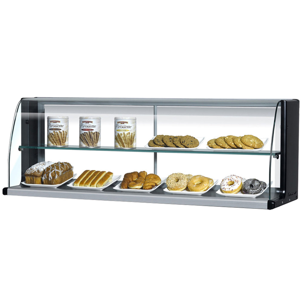 "Turbo Air TOMD-30-HB 28"" Top Dry Display Case for Turbo Air TOM-30SB Slim Line Open Display Case - Black"