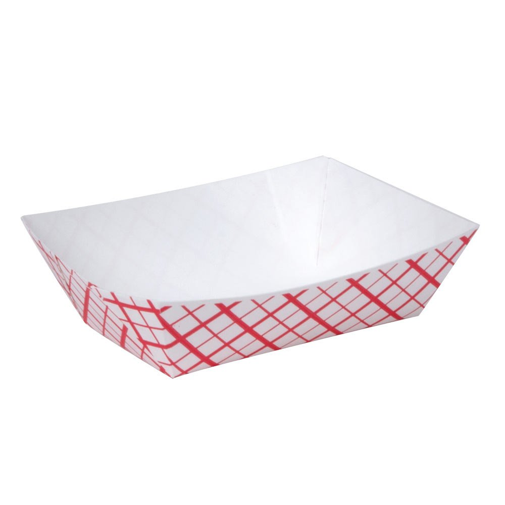 1/4 Lb. Red Check Paper Food Tray 1000 / Case