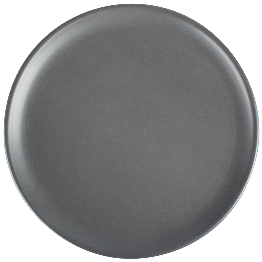 "American Metalcraft HCCTP6 6"" Coupe Pizza Pan - Hard Coat Anodized Aluminum"