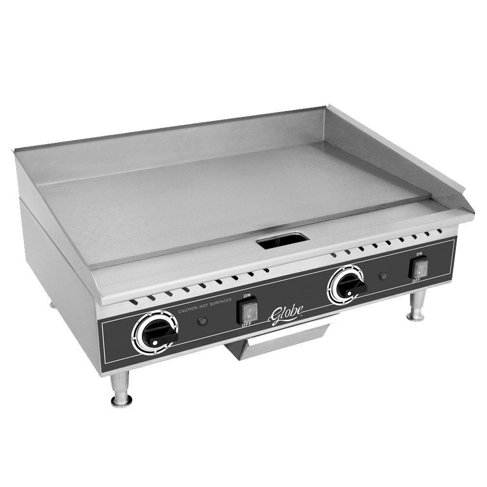 "Globe PG24E 24"" Electric Countertop Griddle - 2700W"