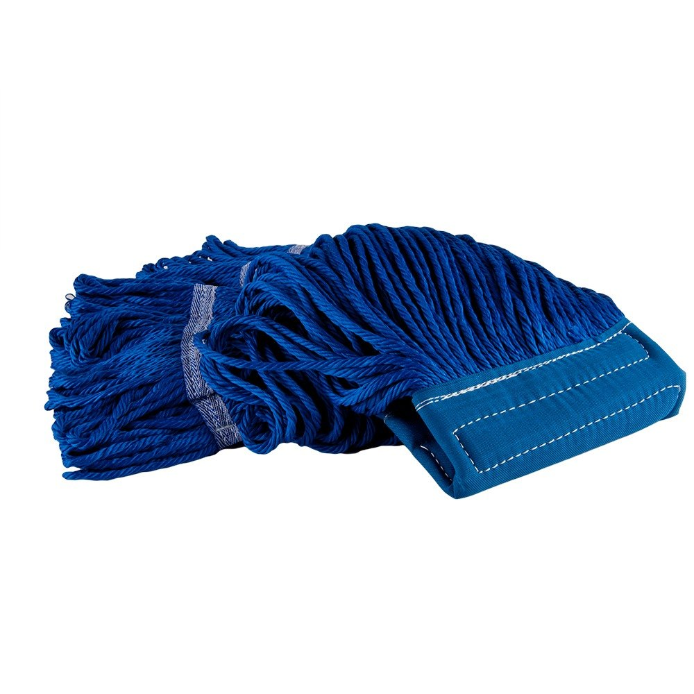 "Small 16 Oz. Microfiber String Mop Head with Blue 6"" Band"