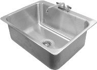 "Advance Tabco DI-1-2812 Drop In Stainless Steel Sink - 28"" x 20"" x 12"" Bowl at Sears.com"