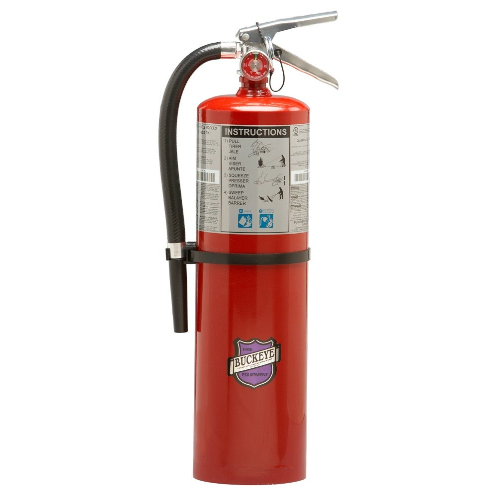 Buckeye 10 lb. Purple K Dry Chemical BC Fire Extinguisher - Rechargeable Untagged - UL Rating 80-B:C