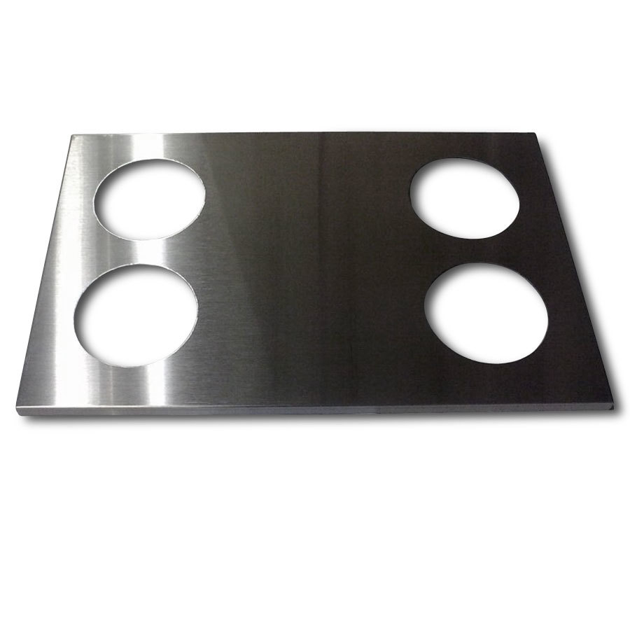 "APW Wyott 14890 4 Hole Adapter Plate with 5"" Openings"