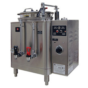 Grindmaster 7416E Single Midline 6 Gallon Fresh Water Coffee Urn - 120/208V