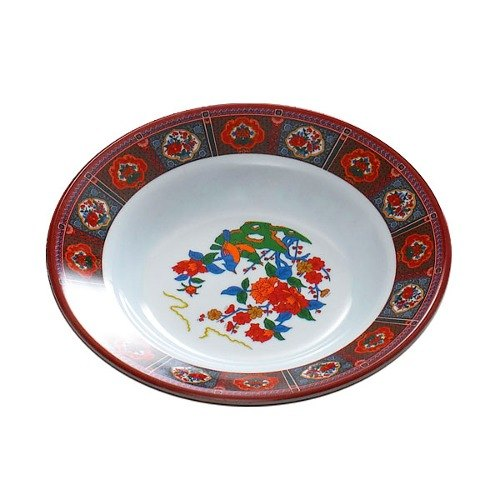 Peacock 3 oz. Round Melamine Soup Plate - 12/Pack