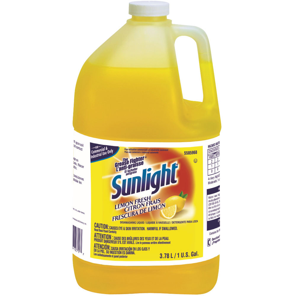 Washing Hair With Dish Soap To Remove Color: Diversey 95729360 Sunlight 1 Gallon / 128 Oz. Lemon Liquid