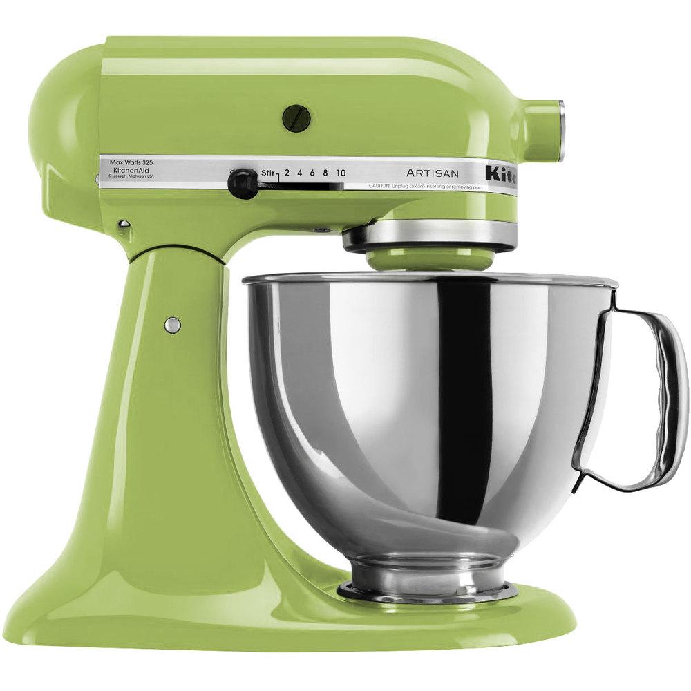 Kitchenaid ksm150psga green apple artisan series 5 qt stand mixer - Kitchenaid qt mixer review ...