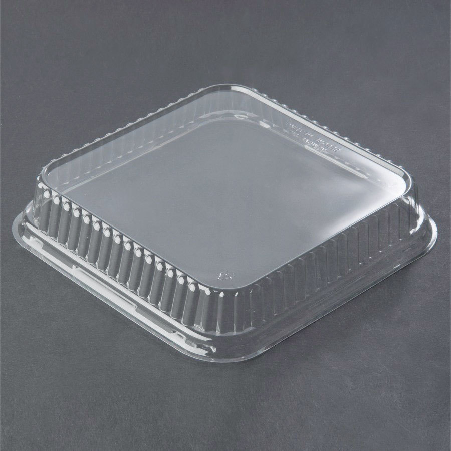 Genpak 95388 Bake 'N Show Clear Dome Lid for 55388 Dual Ovenable Square Brownie / Cake Pan - 250 / Case