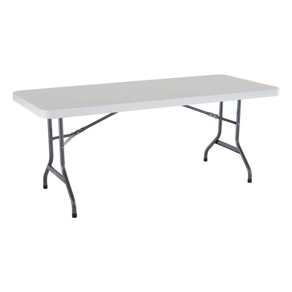 "Costco Club Chair Lifetime 42901 30"" x 72"" White Granite Plastic Folding ..."