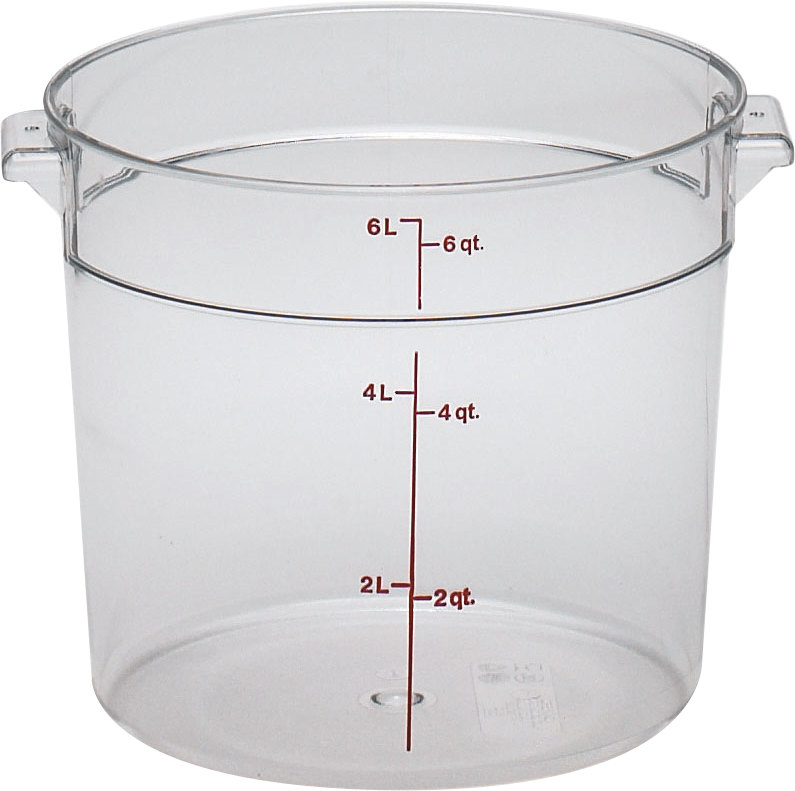 Cambro RFSCW6 Camwear 6 Qt. Clear Round Food Storage Container