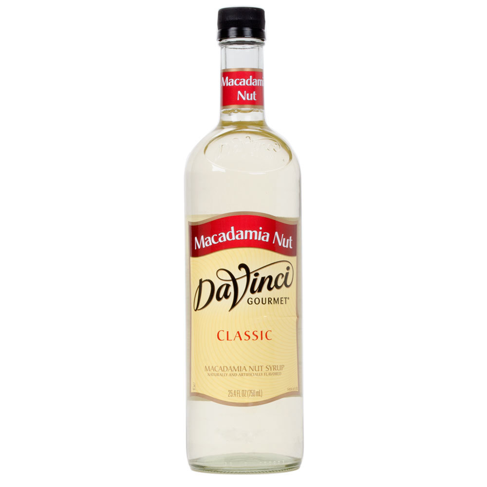 DaVinci Gourmet 750 mL Macadamia Nut Classic Coffee Flavoring Syrup