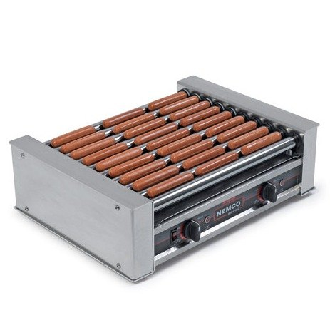 Nemco 8045N-220 Narrow Hot Dog Roller Grill - 45 Hot Dog Capacity (220V)
