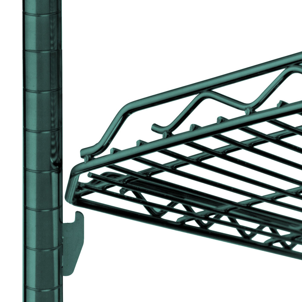 "Metro HDM1448Q-DHG qwikSLOT Drop Mat Hunter Green Wire Shelf - 14"" x 48"""
